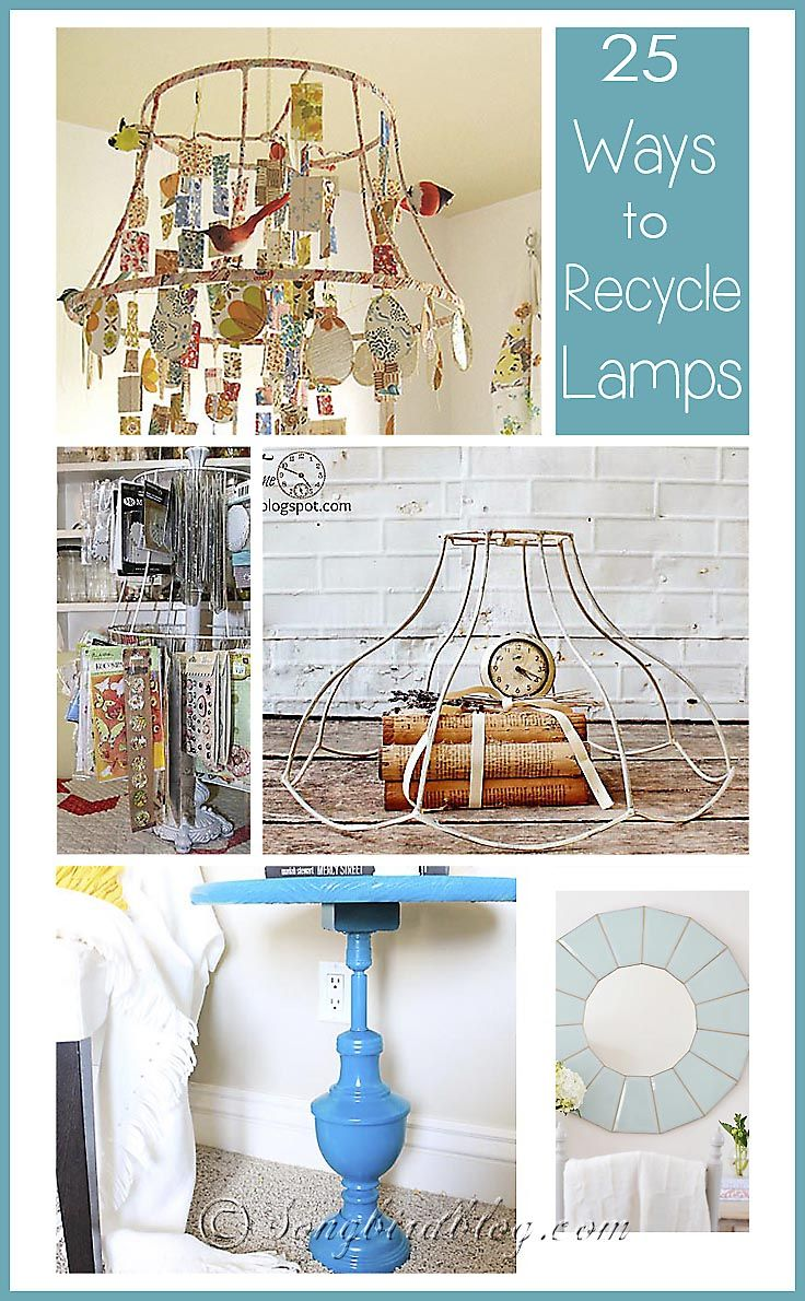 lamp shade frame over light - rustic chic