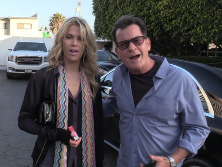 Charlie Sheen Introduces New Girlfriend on 'Dark Day' (VIDEO)
