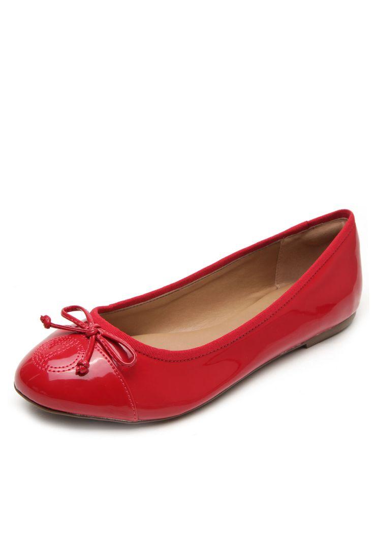Sapatilha Dumond Laço Vermelha - Marca Dumond