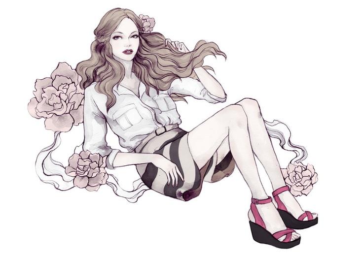 Soleil Ignacio Illustrations: April Antholog, Antholog Shoes, Fashion Art, Fine Art, Ignacio Illustrations, Fashionillustr Beauty, Shoes Illustrations, Fashion Illustrations, Soleil Ignacio