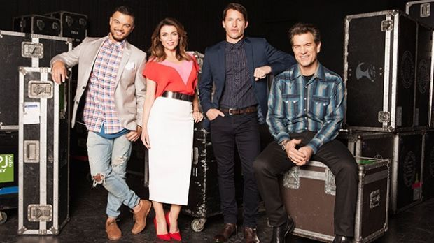 The <i>X Factor</i> 2015 judges: Guy Sebastian, Dannii Minogue, James Blunt, Chris Isaak.