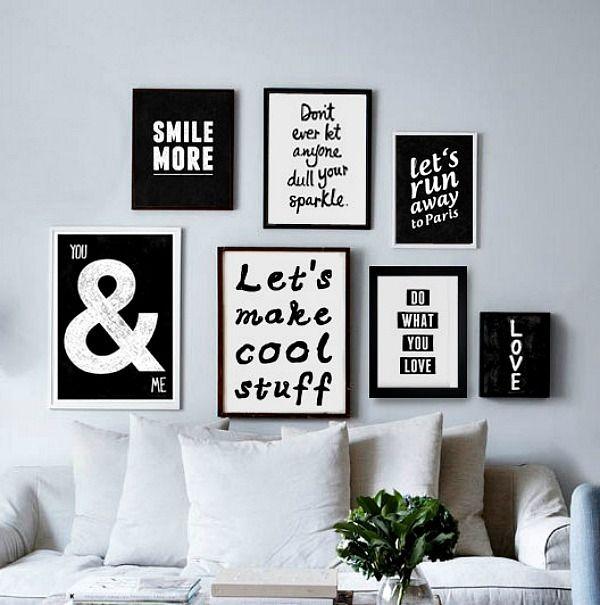 Als je van quotes houdt: de jaren 30-stijl leent zich hier perfect voor! Een muur vol quotes, lekker creatief en inspirerend!