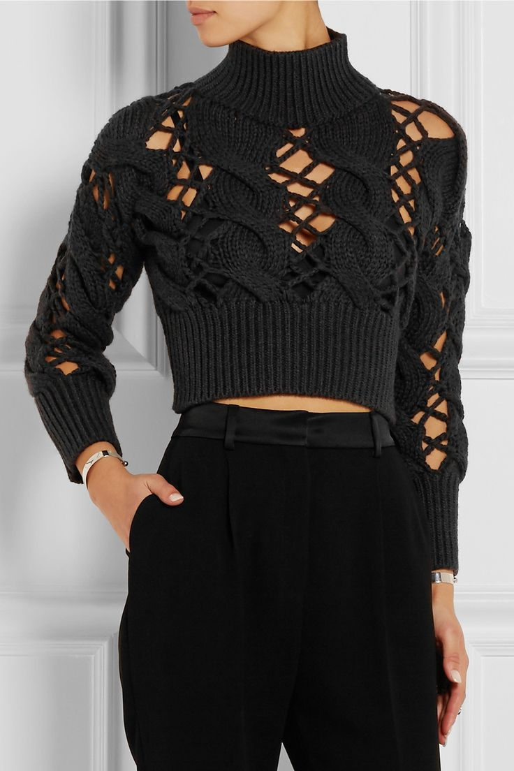 MM6 MAISON MARGIELA Cropped cable-knit wool sweater €640.00