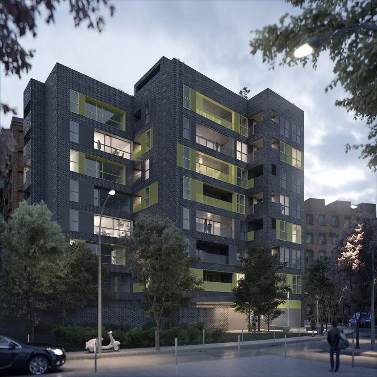 Apartment Complexes: PHILIPP MAINZER Designed The Facade, Public Spaces And