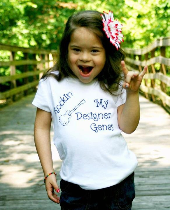 Rockin My Designer Gene--Down Syndrome Awareness. $17.00, via Etsy.