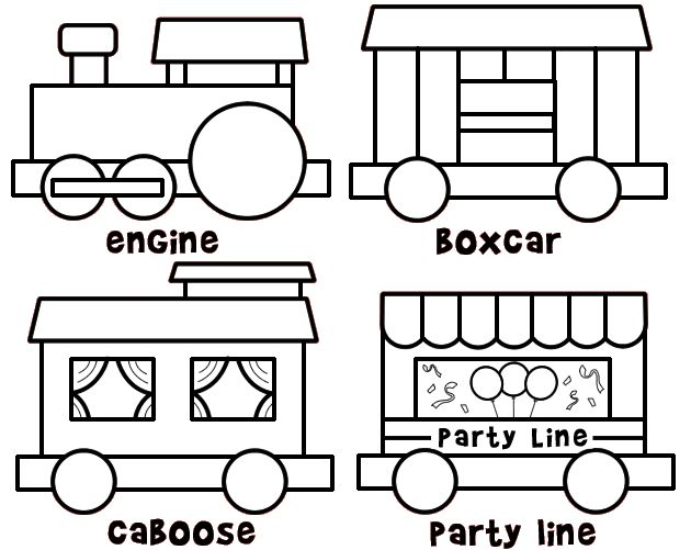 color and build a train  cute site too