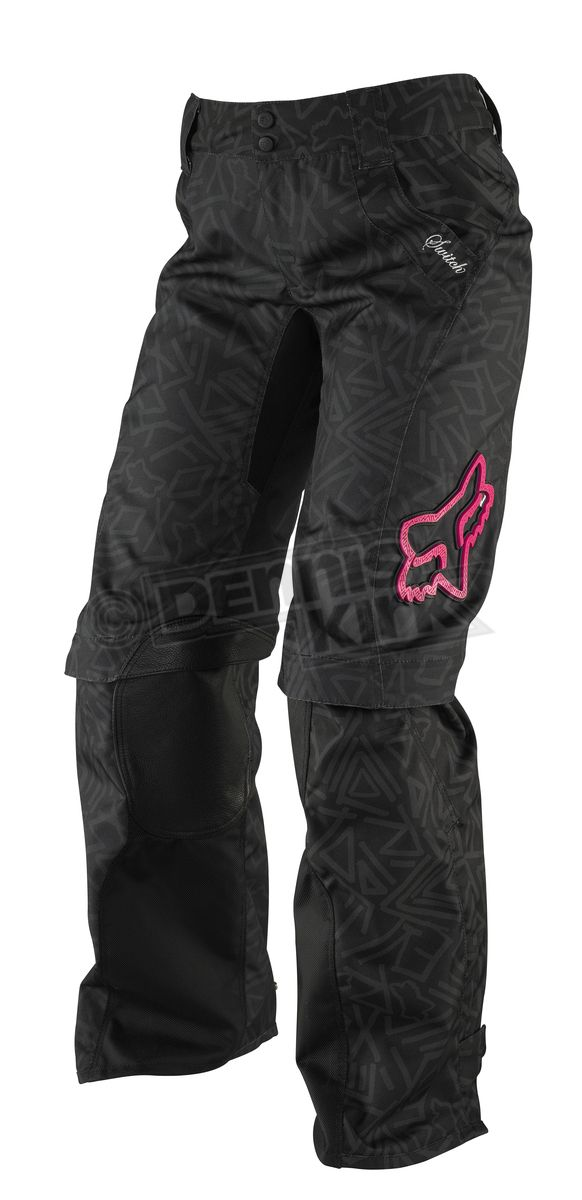 I need these!! Fox Racing Womens Black/Pink Switch Pants. Can't wait for minion to be old enough to ride a dirt bike!!