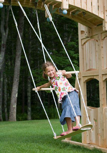 This skateboard swing makes me wish we had a big tree in our backyard! Swings & Swinging Things from CedarWorks