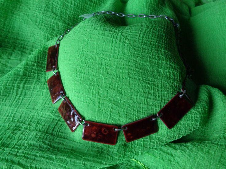 Genuine Italian Vintage Necklace Enamel '70 - NOW ON SALE by AllYouCanVintage on Etsy