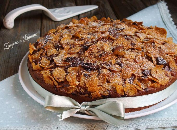 Torta+croccante+alla+crema+di+nocciole