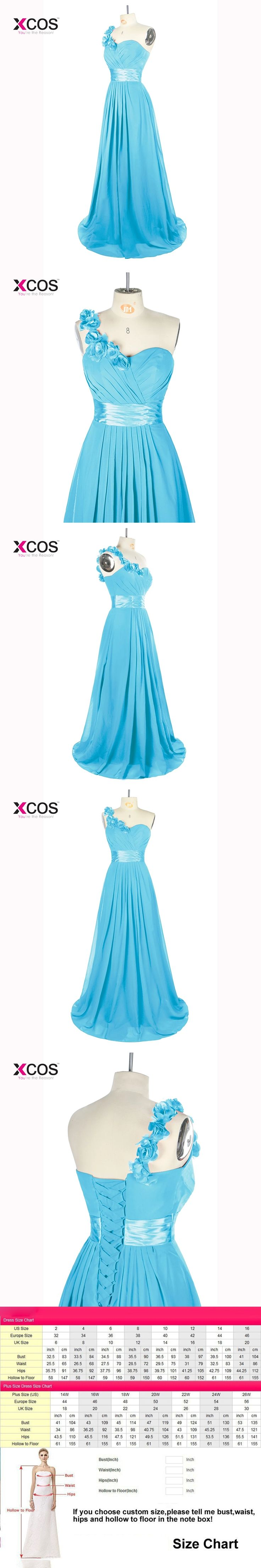 Blue One Shoulder Bridesmaid Dresses Long Flowers Beaded Chiffon Vestido Madrinha Longo Wedding Guest Dresses
