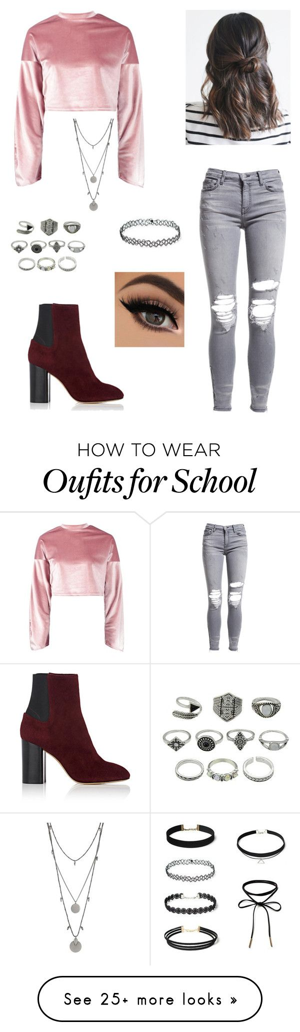 """Untitled #1017"" by dokkebakken13 on Polyvore featuring AMIRI, Boohoo, rag & bone and Vince Camuto"