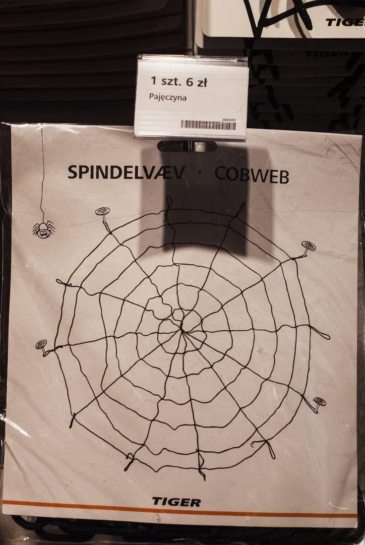 Duuuża pajęczynka w sam raz na wystrój halloweenowy. #tigerhalloween #tigerstores #tigerpolska #tiger #tigersklep #halloween #pajęczyna #creepy #cobweb #spider #pająk