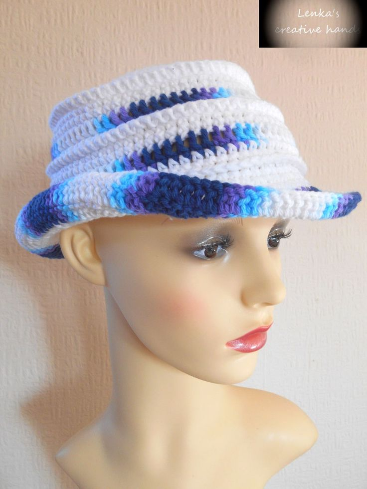 Crochet sun hat, Women's sun hat, Beach hat, Floppy sun hat with brim,Garden hat, Gift for her by Lenkascreativehands on Etsy