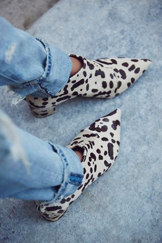 Rock 'n' Roll Style ✯ Justine Ankle Boot at Free People #leopard