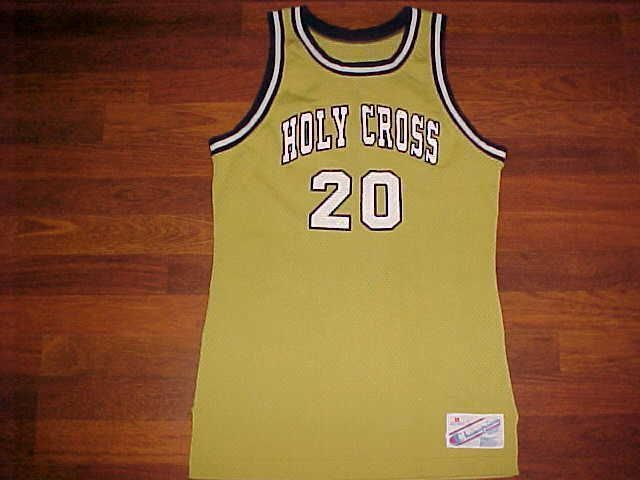 Champion NCAA Patriot League Holy Cross Crusaders 20 Men Basketball Jersey M #Champion #HolyCrossCrusaders
