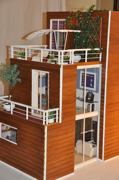 Models modern dollhouse and awesome on pinterest for Mini casas modernas