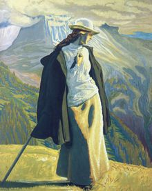 Willumsen mountaneer lille - Виллумсен, Йенс Фердинанд — «Альпинистка» (1902), Государственный музей искусств, Копенгаген