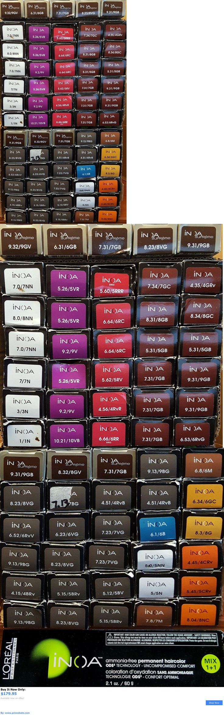 Hair Color: Loreal Inoa Permanent Hair Color Imperfects (Lot Of 65) 2.1 Oz. BUY IT NOW ONLY: $179.95 #priceabateHairColor OR #priceabate