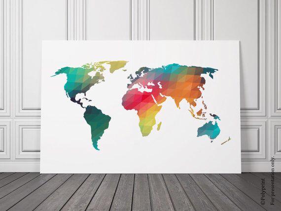 Geometric world map for a nursery