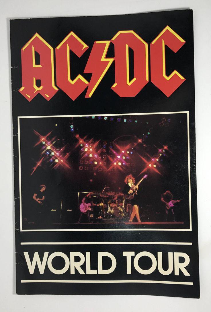 1980-81 | AC DC World Tour Concert Program | vintage by StephaniesPaige on Etsy
