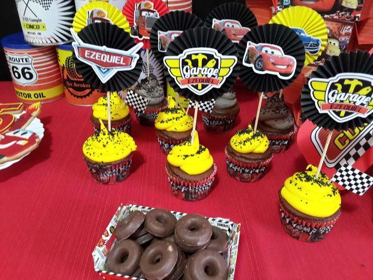 Disney Cars birthday party treats! See more party ideas at CatchMyParty.com!