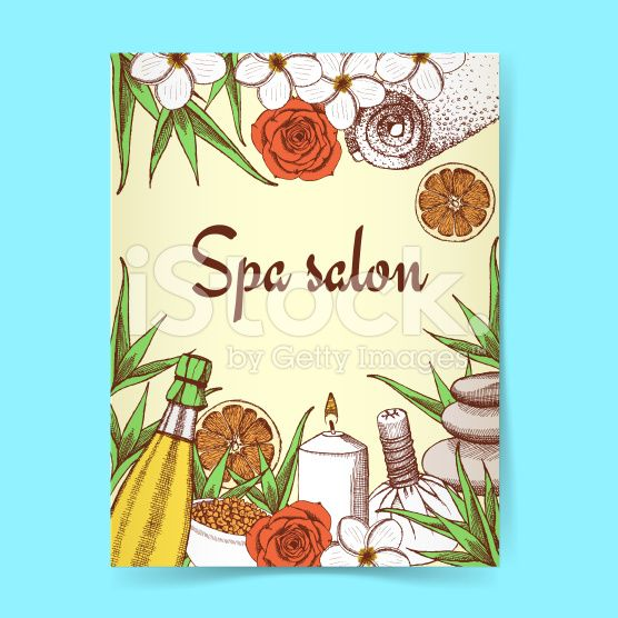 Sketch spa poster royalty-free stock vector art
