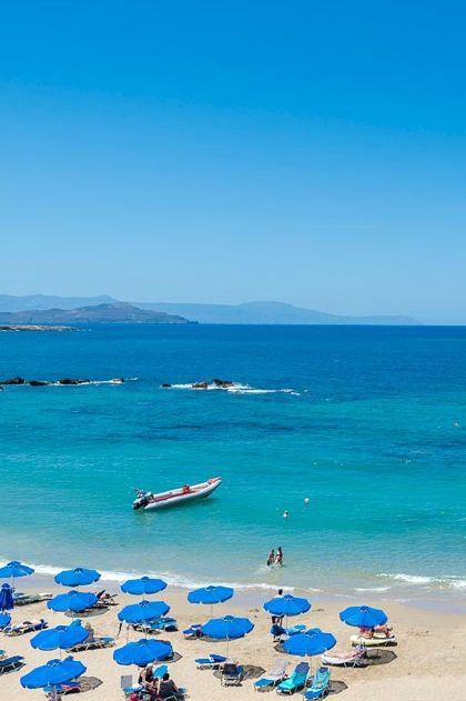 Nea Chora sandy beach, only 2 km away from Chania town center in Crete! #beach