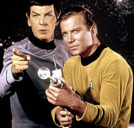 Spock and Captain Kirk played by Leonard Nimor and William Shatner