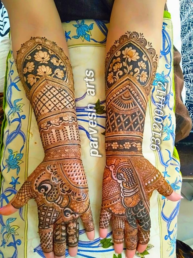Pin by Parvesharts on bridel mehandi design Hand tattoos