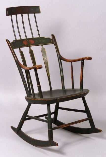 Image detail for --General (Antiques): Windsor Comb Back Rocking Chair,  chair . - 77 Best Rocking Chairs Images On Pinterest Chairs, Rocking