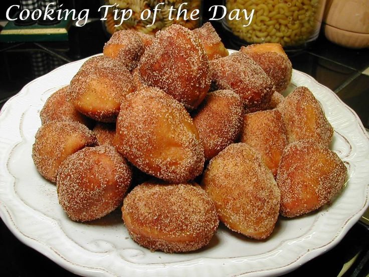 religious jewelry Cooking Tip of the Day Recipe Easy Sugared Doughnut Bites