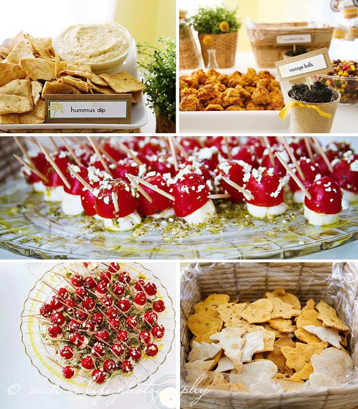 Snacks For Baby Shower Party ~ Woodland themed party food baby shower