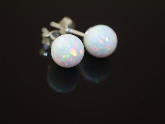 White/Fire Gilson Opal set on Sterling Silver by kimberleyraine