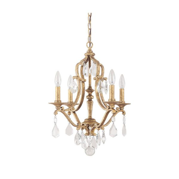 Capital Lighting Blakely Collection 4-light Antique Gold Chandelier