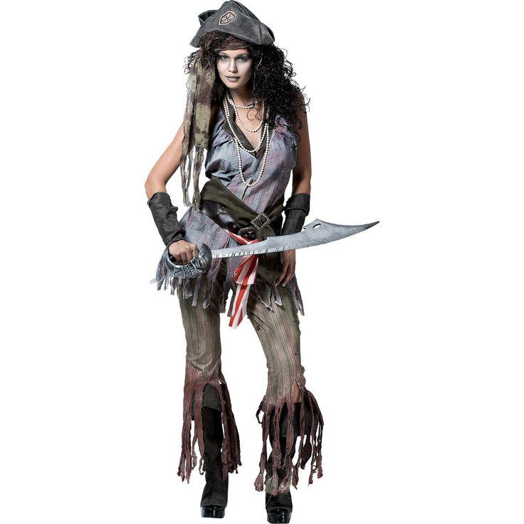 Ghost Pirate Costume Kvindelige Wreck Sally Voksen kostume-5318