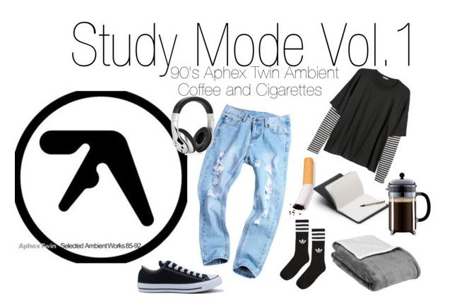 study mode vol.1 by bored-and-broken-madlen on Polyvore featuring adidas, Converse, Vivitar and Bellroy