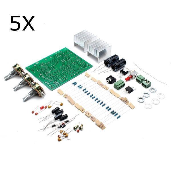 5Pcs Geekcreitu00ae 12V 30W DIY TDA2030A Dual Track Power