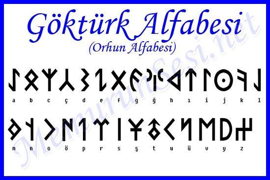 Old Turkish alphabeth from Orhun.
