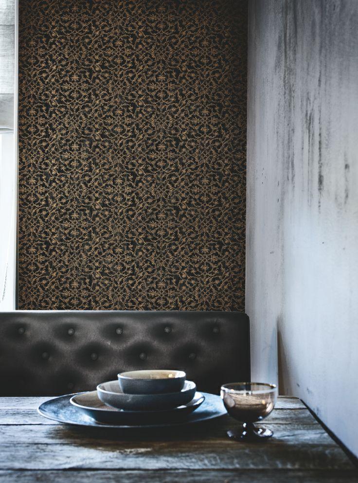 Meer dan 1000 idee n over goud behang op pinterest gouden patroon geometrische achtergrond en - Behang zwart en goud ...