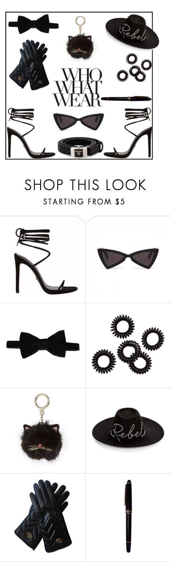 """""""Who What Wear"""" by daniellejosephinevogue ❤ liked on Polyvore featuring Who What Wear, HUGO, Kate Spade, Eugenia Kim, Gucci, Mont Blanc and Prada"""