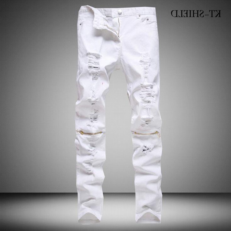28.87$ Buy here - https://alitems.com/g/1e8d114494b01f4c715516525dc3e8/?i=5&ulp=https%3A%2F%2Fwww.aliexpress.com%2Fitem%2FSuperstar-Skinny-jeans-men-White-Ripped-jeans-for-men-Fashion-Casual-Slim-fit-Mens-Biker-jeans%2F32717507789.html - Superstar Skinny jeans men White Ripped jeans men Fashion Casual Slim fit Mens Biker jeans brand Hip hop Denim overalls pants