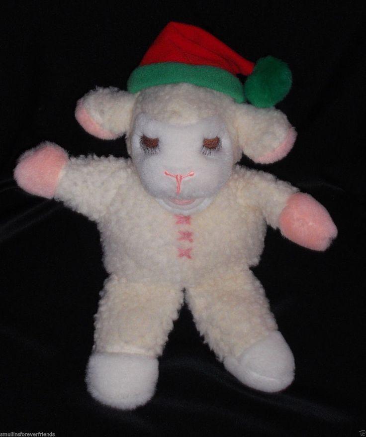 "Vintage SHARI LEWIS LAMB CHOP Hand Puppet Plush Stuffed Animal Christmas 12"""