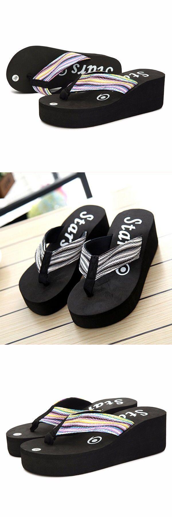 Slippers Movie Women Platform Flip Flops Fashion Casual Sandals Beautiful Rainbow Shoes Mamp