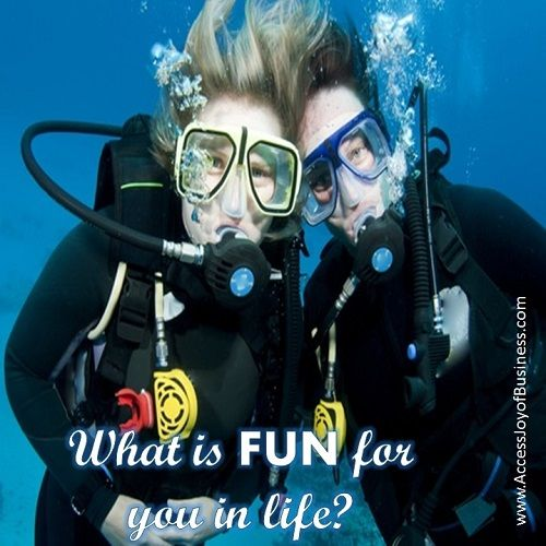 What is fun for you in life?  www.AccessJoyOfBusiness.com
