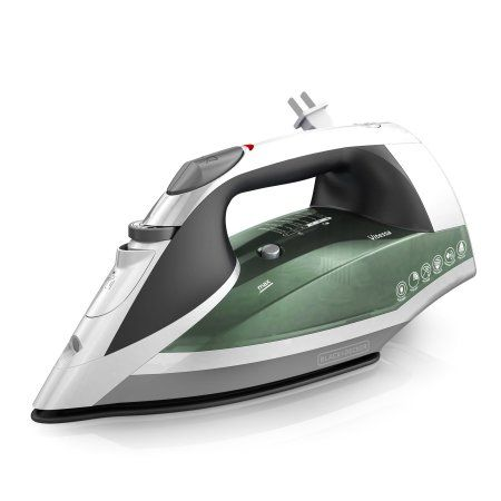 Black+decker Vitessa Advanced Steam Iron, Nonstick Soleplate Iron ICR2020, Green