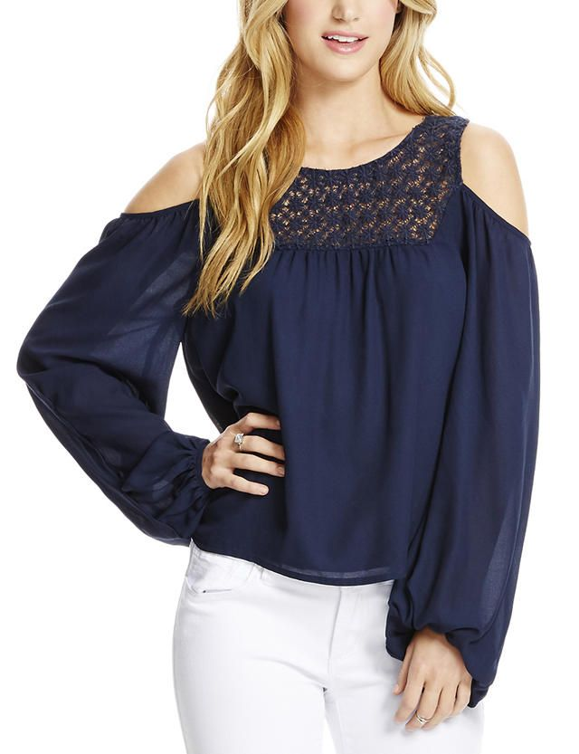 Jessica Simpson Liam Cold Shoulder Top | Stage Stores