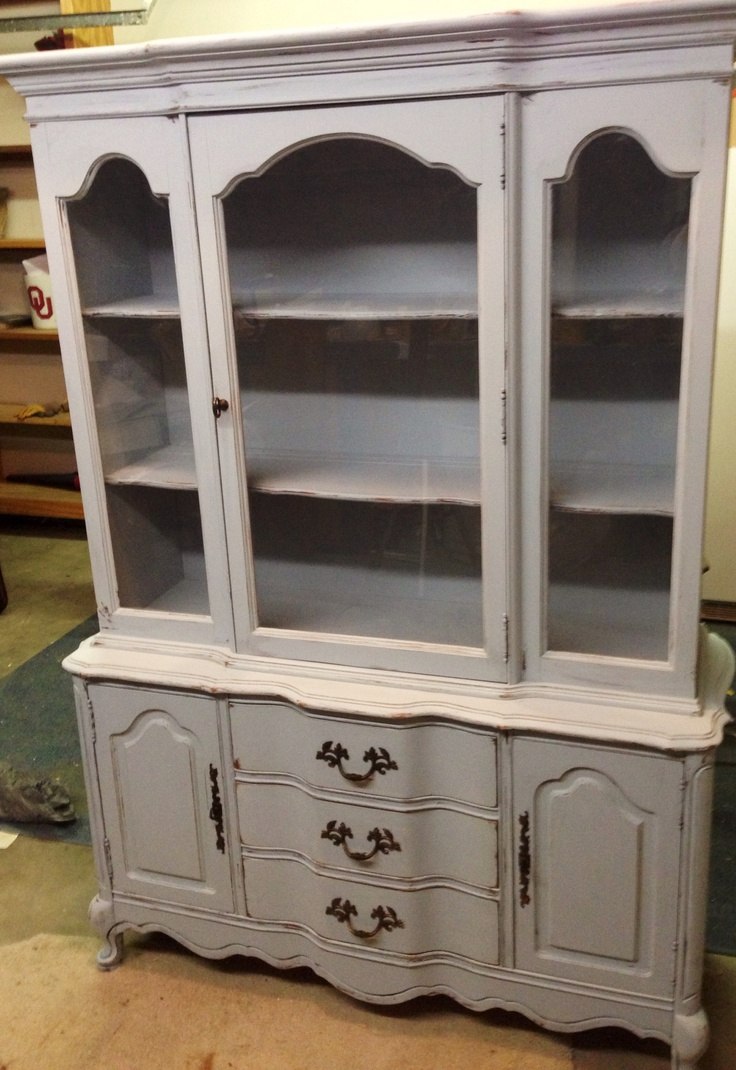 French Country Distressed China Cabinet For The Home
