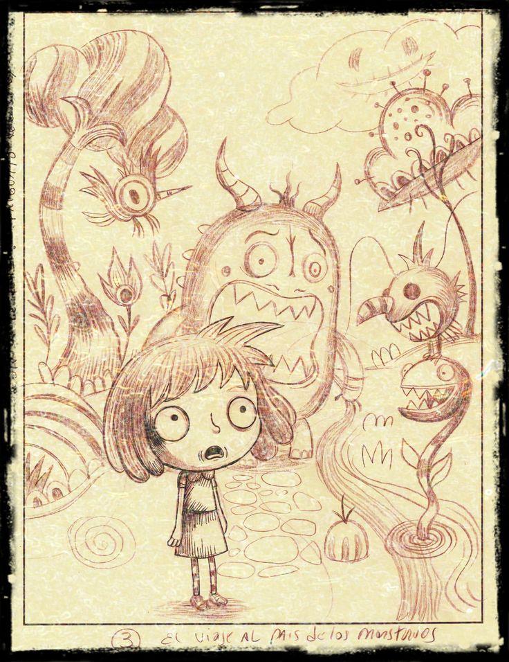 La nena que quería ser monstruo-boceto por Pablo Zerda 2014