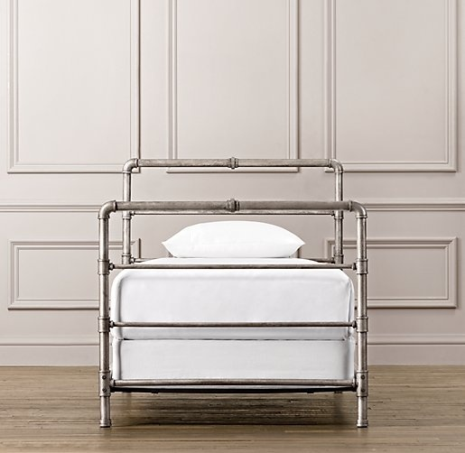 1000 ideas about pipe bed on pinterest bed frames for Bed frame hangers